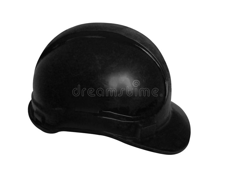 Hard Hat In Black Stock Image