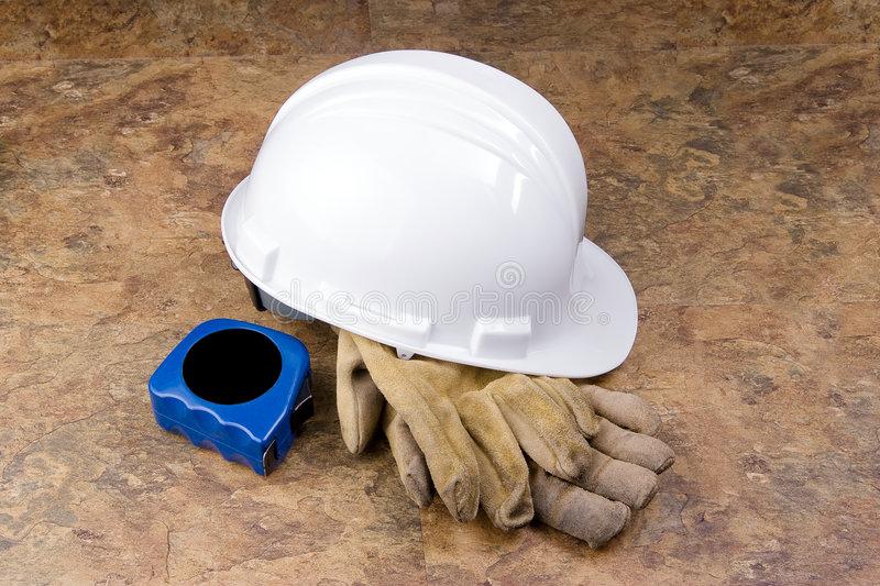 Download Hard Hat Gloves And Tape Measure Stock Images - Image: 6682004