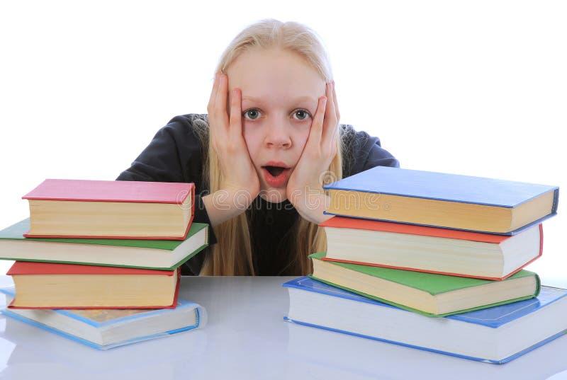 Download Hard homework stock photo. Image of books, panic, portrait - 20244980