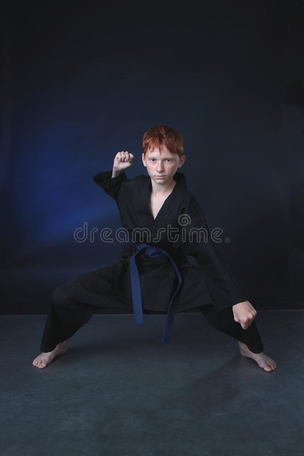 Download Hard Karate Man In Attacking Position. Stock Photo - Image: 32091654
