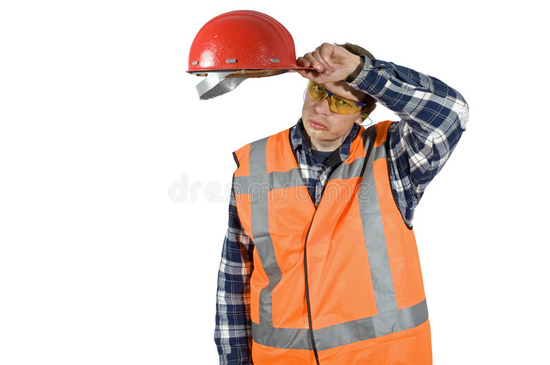 After hard labor stock image