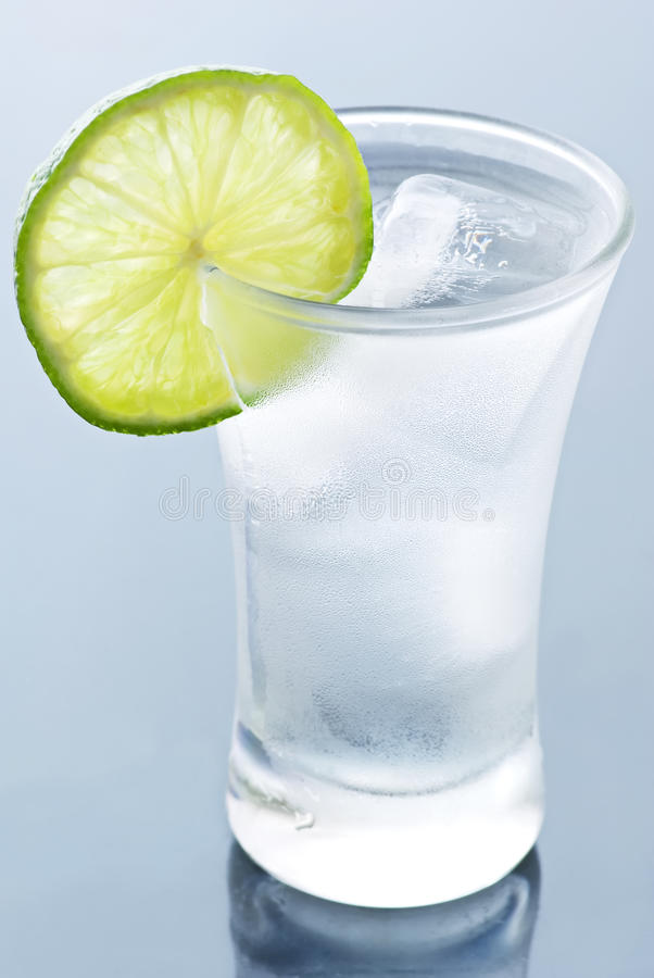 Hard Liquor with Lime stock images