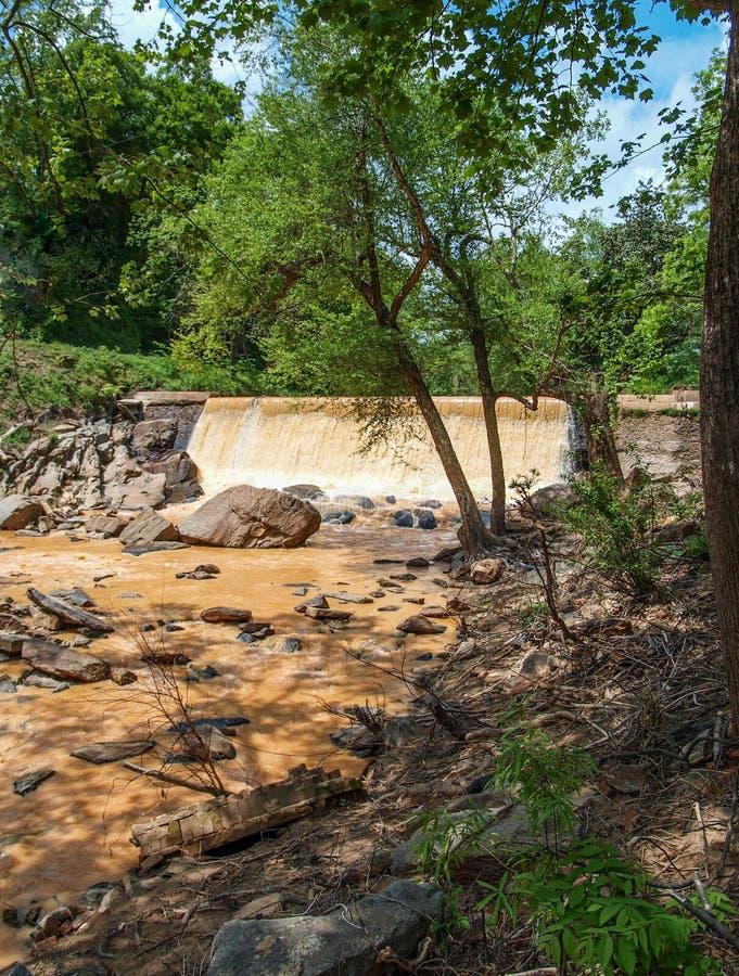 Dam along Elkin & Alleghany Rail Trail royalty free stock photos