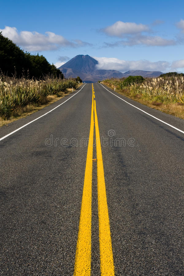 Hard road ahead royalty free stock photography