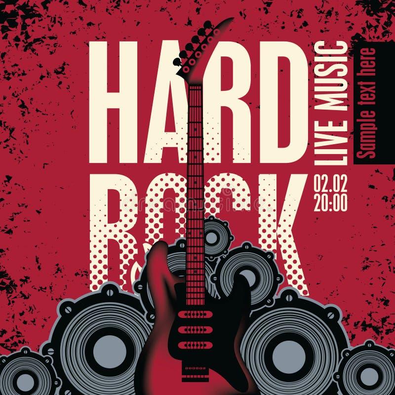 Hard rock ilustração royalty free