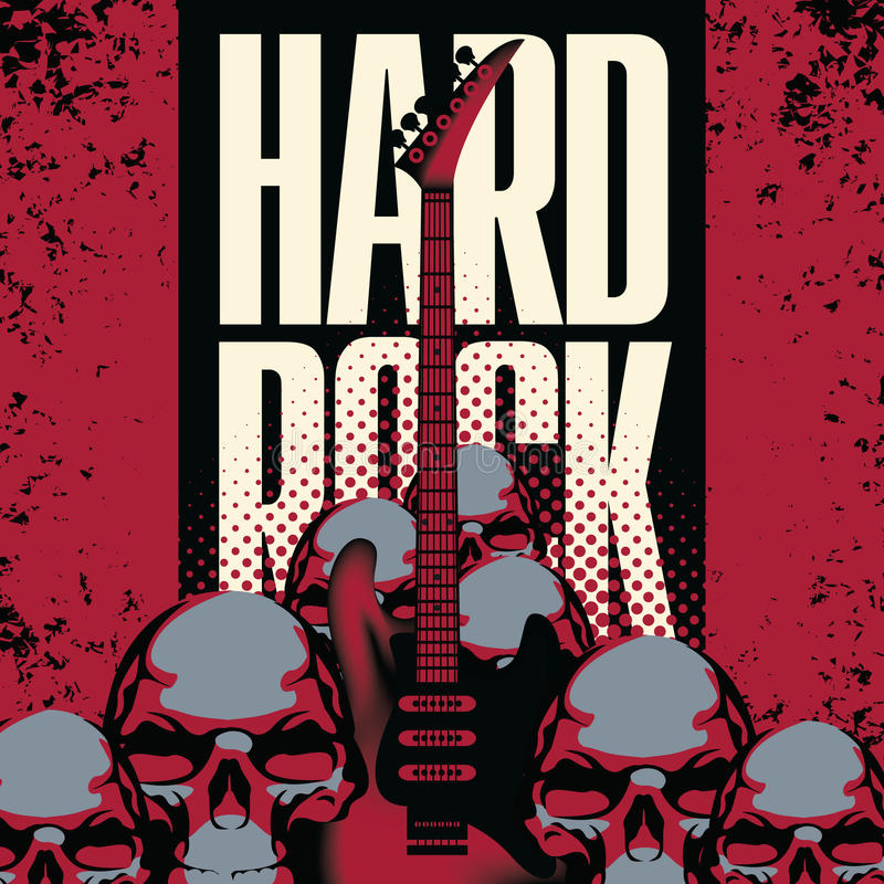 Download Hard rock stock vector. Image of background, label, artistic - 31594235