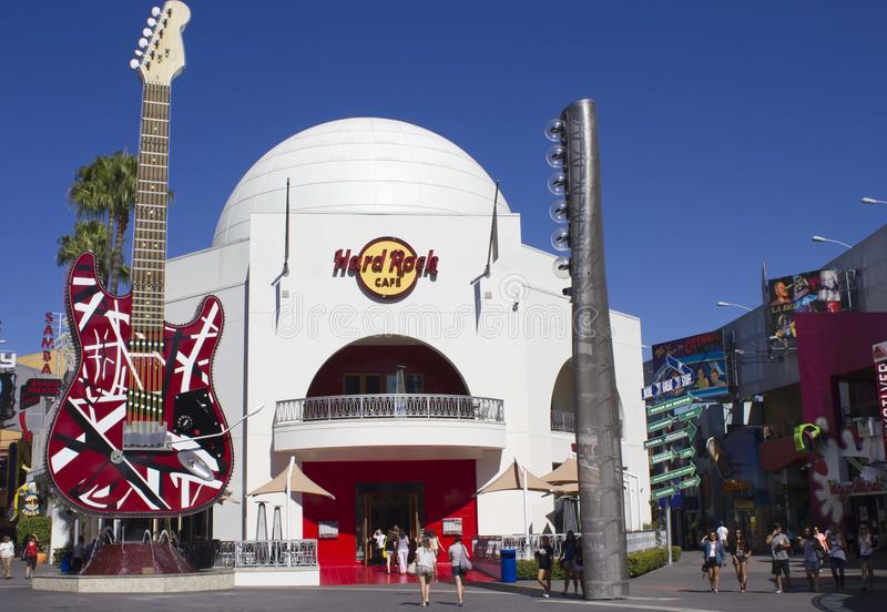 Hard Rock Cafè inside the Universal Studio. Universal Studios Hollywood is a film studio and theme park in the unincorporated Universal City community of Los stock images