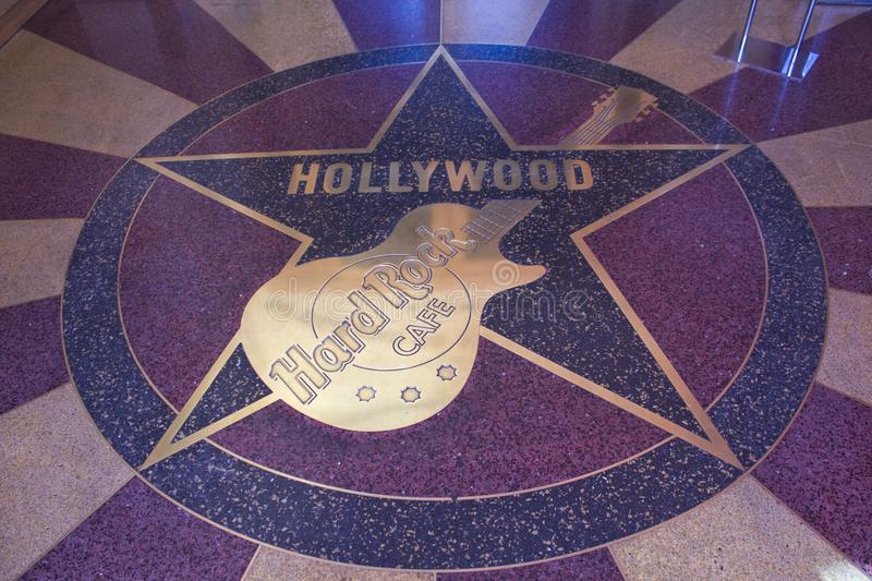 Hard Rock Cafe -Universal Studio. Universal Studios Hollywood is a film studio and theme park in the unincorporated Universal City community of Los Angeles royalty free stock photo