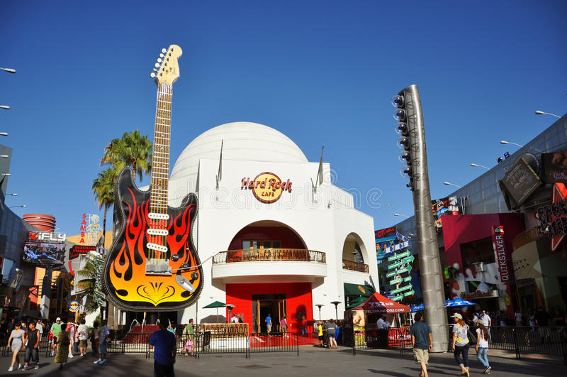 Hard Rock Cafe à Hollywood universel image stock