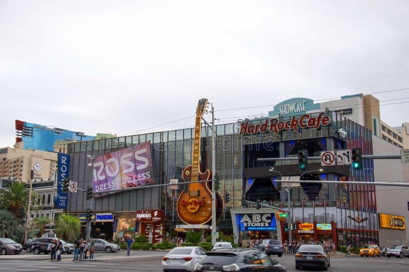 Hard Rock Cafe à Las Vegas sur le Bd. de BT photographie stock