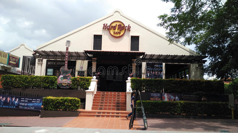 Hard Rock Cafe dans Melaka images libres de droits