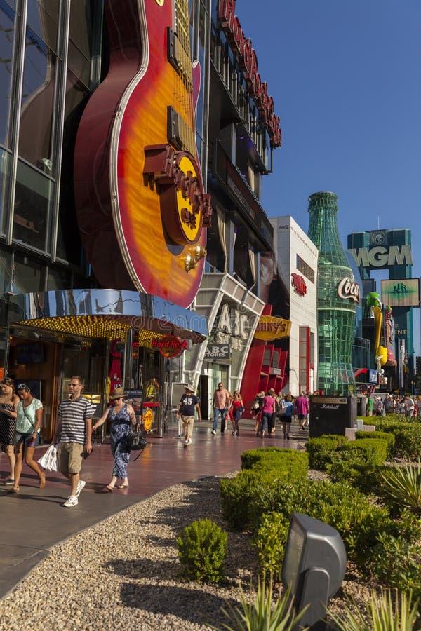 Hard Rock Cafe et Coca Cola à Las Vegas, nanovolt le 20 mai 2013 photo libre de droits