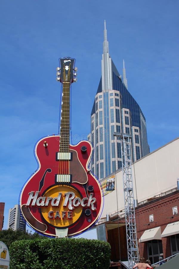Hard Rock Cafe gitarr arkivbild