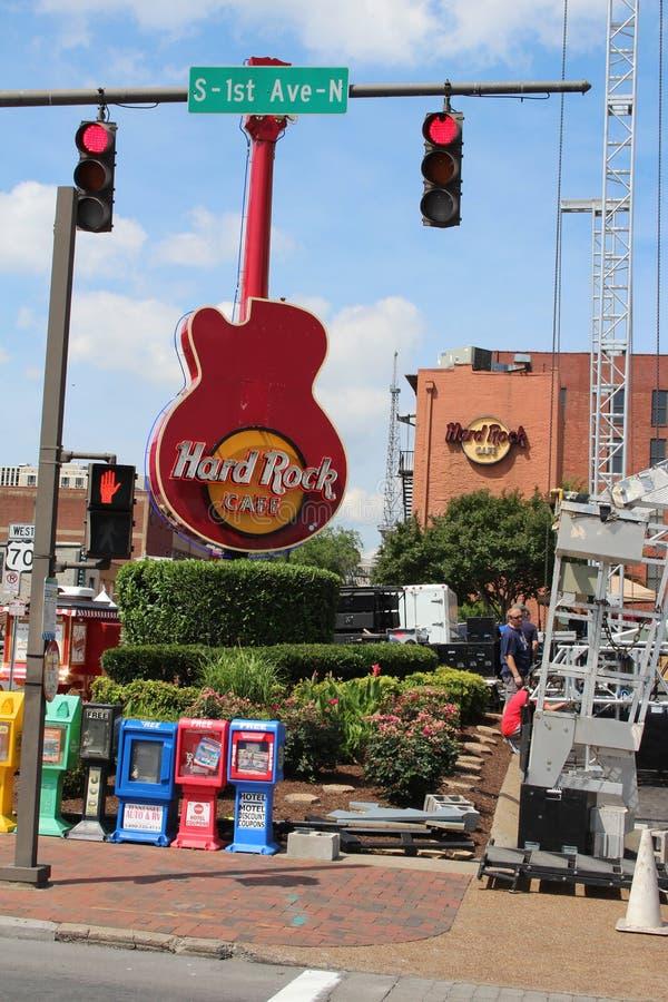 Hard Rock Cafe gitarr fotografering för bildbyråer