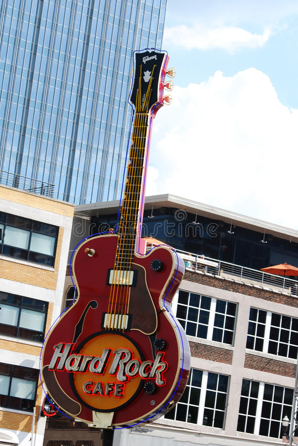Download The Hard Rock Cafe Guitar Outside In Nashville Tennessee Editorial Photography