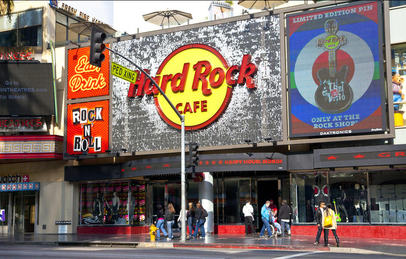 Hard Rock Cafe Hollywood stock photo