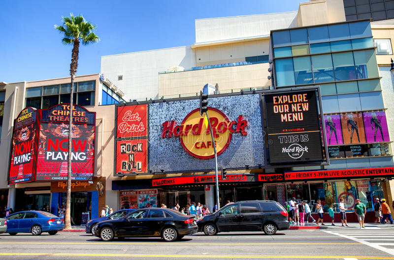 Hard Rock Cafe Hollywood imagem de stock