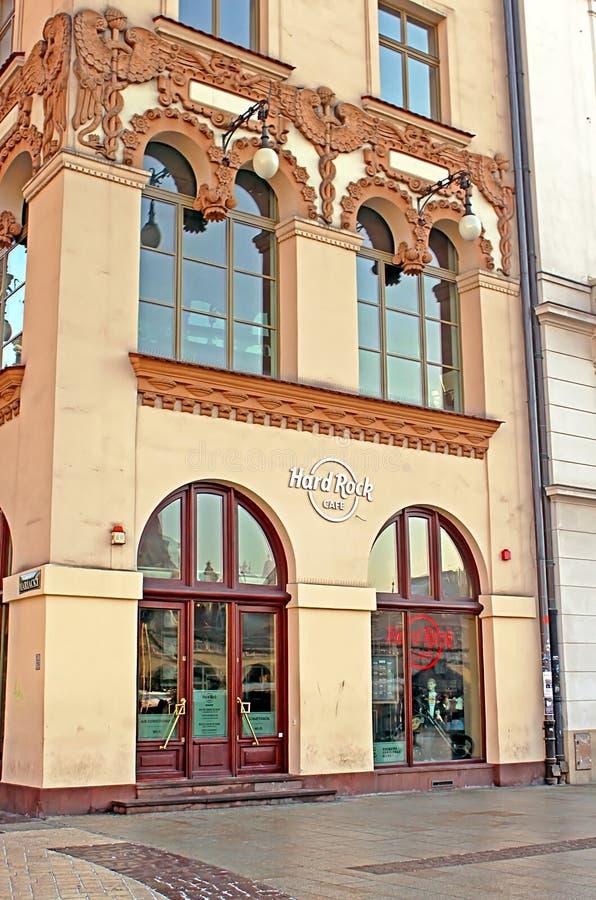 Hard Rock Cafe i Krakow, Polen royaltyfri bild