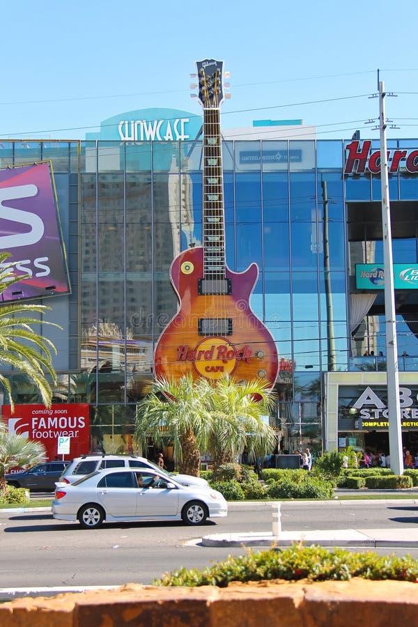 Hard Rock Cafe i Las Vegas arkivfoto