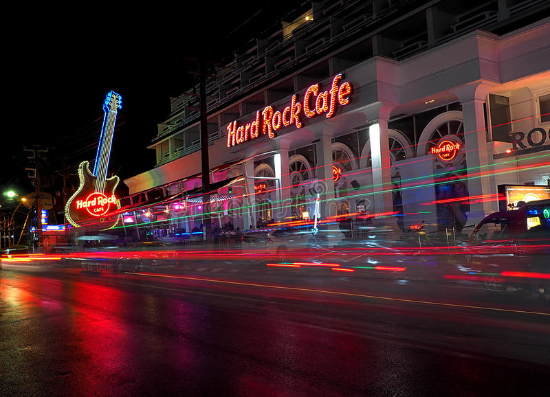 Hard Rock Cafe. stock images