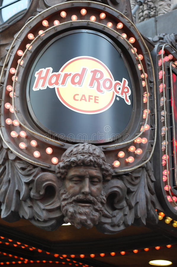 Hard Rock Cafe no Times Square em New York City imagem de stock