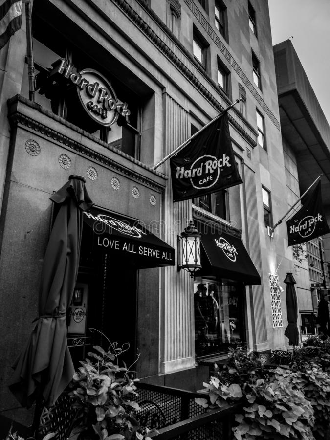 hard rock cafe obrazy stock