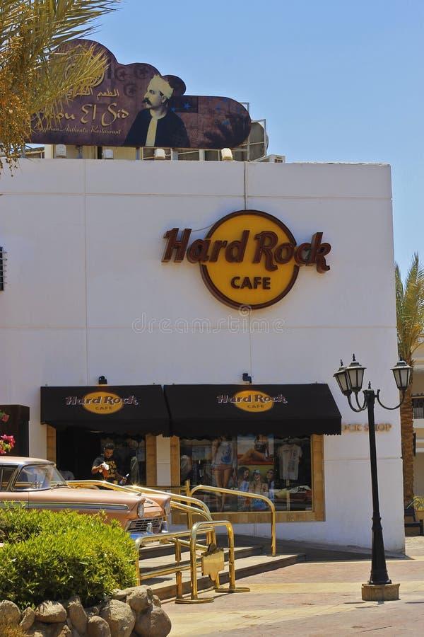Hard Rock Cafe in Sharm EL Sheikh Egypt 13 kann 2013 lizenzfreie stockfotos