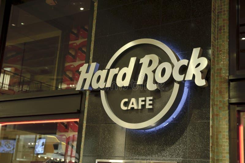 Hard Rock Cafe Sign Editorial Image