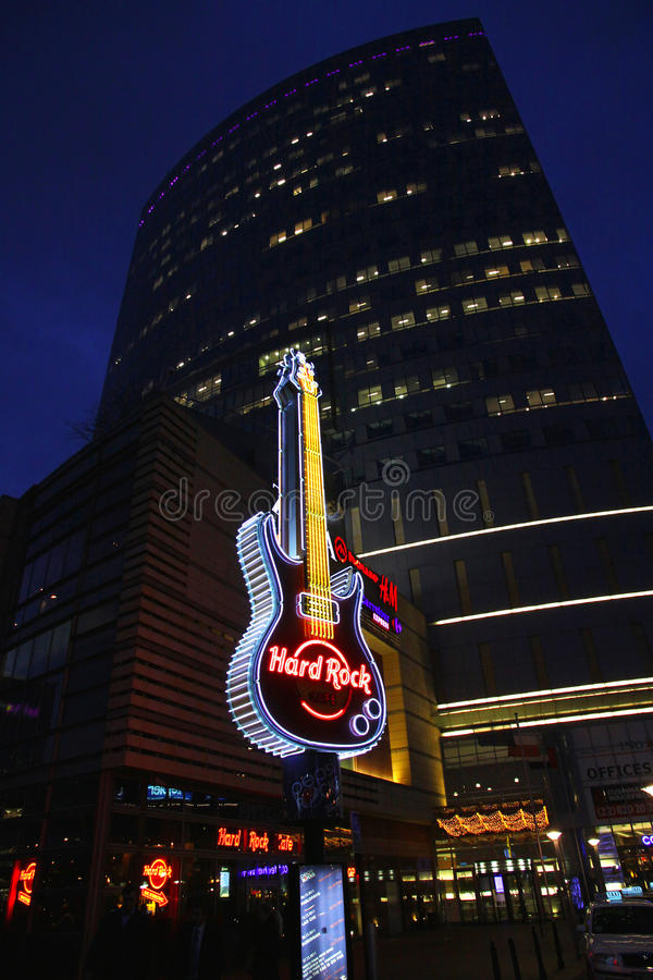 Download Hard Rock Cafe Signboard In Warsaw Editorial Image - Image: 23119360