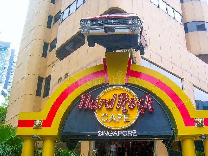 Hard Rock Cafe Singapur, Asia imágenes de archivo libres de regalías