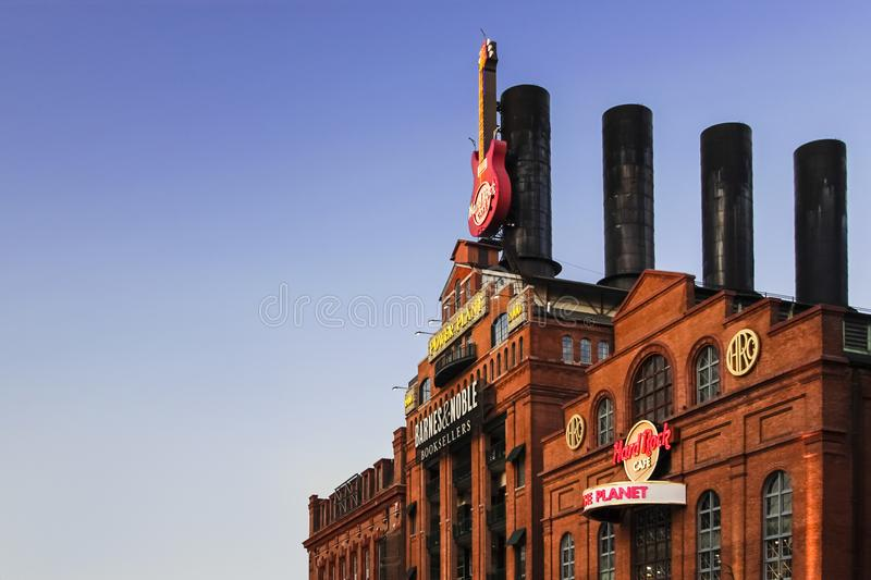 Hard Rock Cafe During Sunset stock image