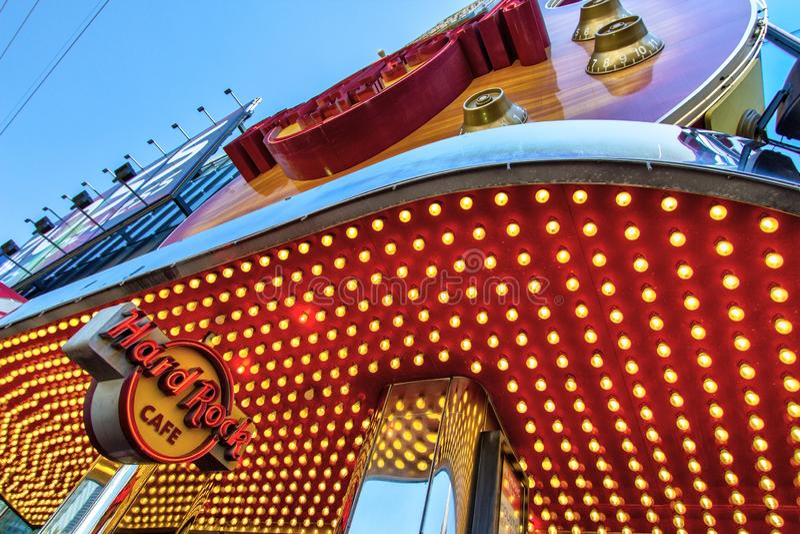 Hard Rock Cafe Sur Las Vegas Nevada Strip photographie stock