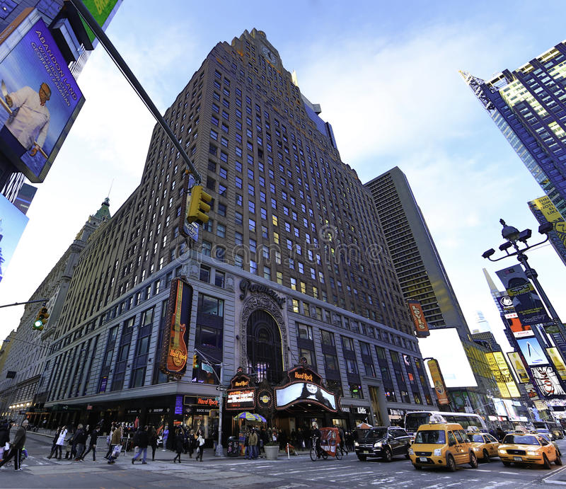 Hard Rock Cafe Times Square in Manhattan stock photography