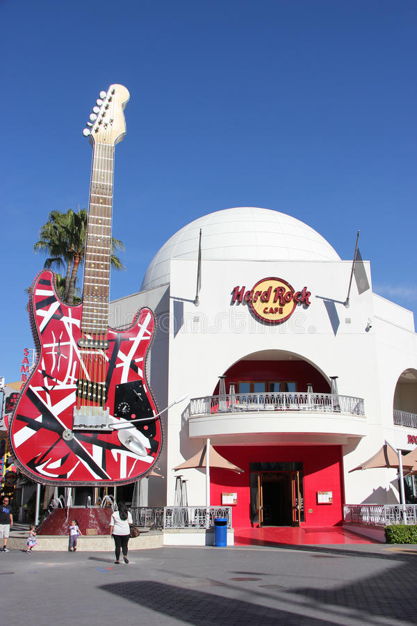 Hard Rock Cafe at Universal CityWalk Hollywood stock photography