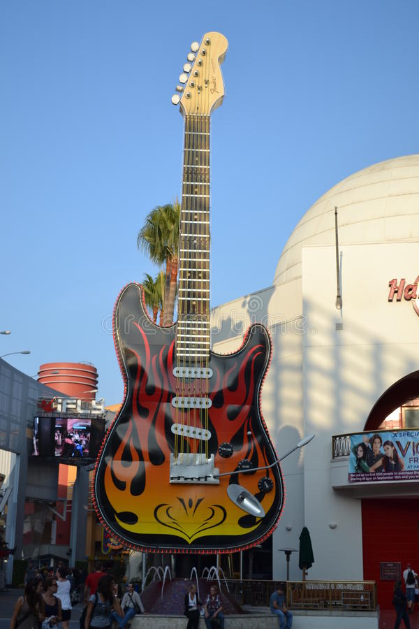 Hard Rock Cafe in Universal Hollywood royalty free stock photos