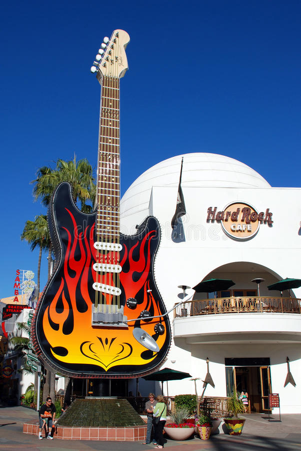 Hard Rock Cafe in Universal Studios, Hollywood royalty free stock photos