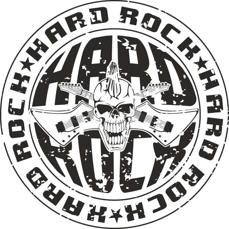 Hard rock d'estampille illustration stock