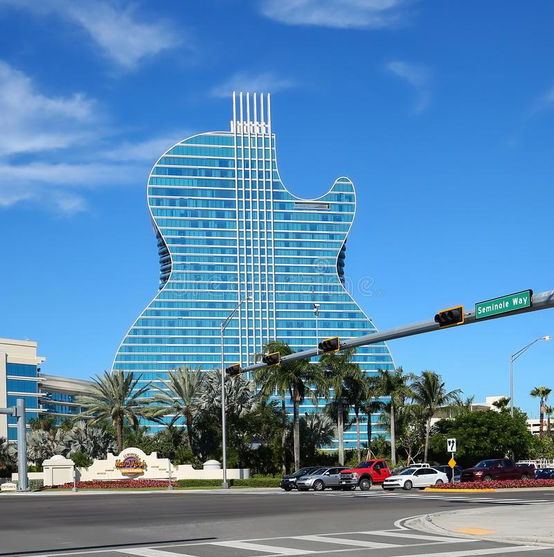 Hard Rock Guitar Hotel in Florida stock photos