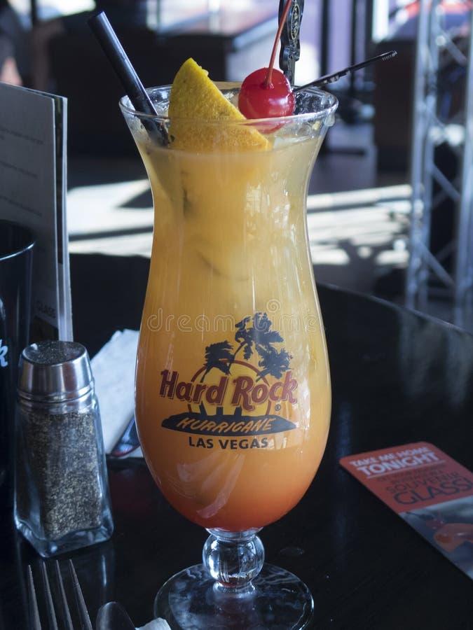 Hard Rock Hurricane cocktail in Las Vegas, Nevada royalty free stock photos
