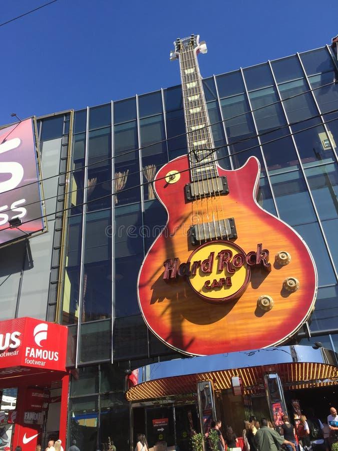 Hard Rock kawiarnia Las Vegas zdjęcie stock