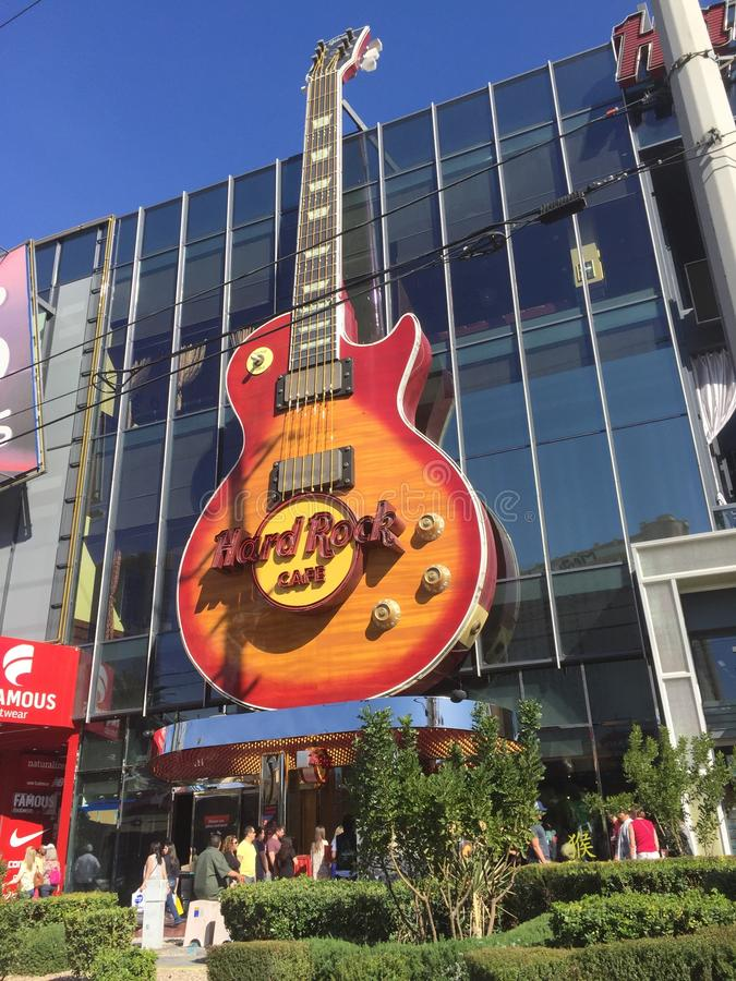 Hard Rock kawiarnia Las Vegas obrazy stock