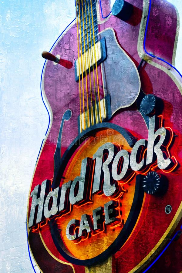 Hard rock Nashville immagini stock