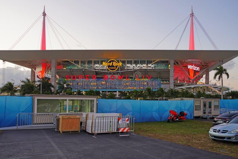 The Hard Rock Stadium di Miami, sede della Superbowl LIV 54 del 2020 immagini stock