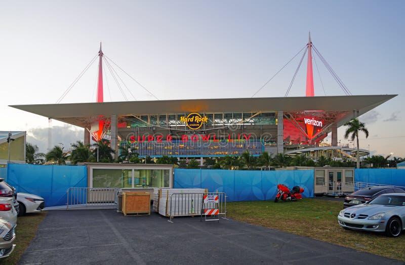 The Hard Rock Stadium di Miami, sede della Superbowl LIV 54 del 2020 immagine stock