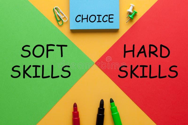 Hard Skills Soft Skills royalty free stock images