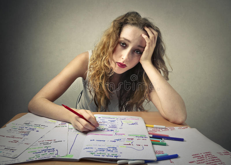 Hard study royalty free stock images