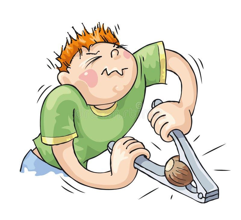Download Hard Task stock vector. Image of vector, cartoon, nutcracker - 21637230