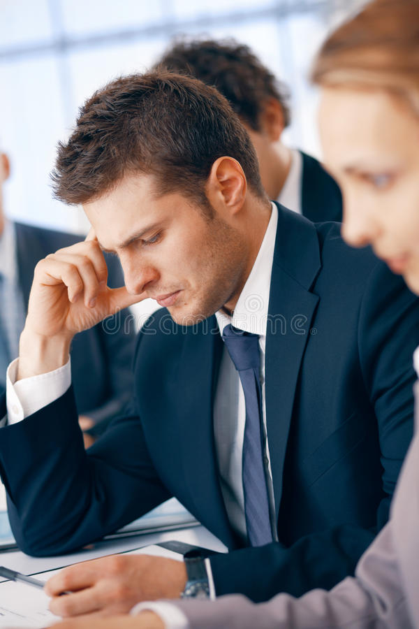 Download Hard Thought. stock photo. Image of leadership, working - 14854964