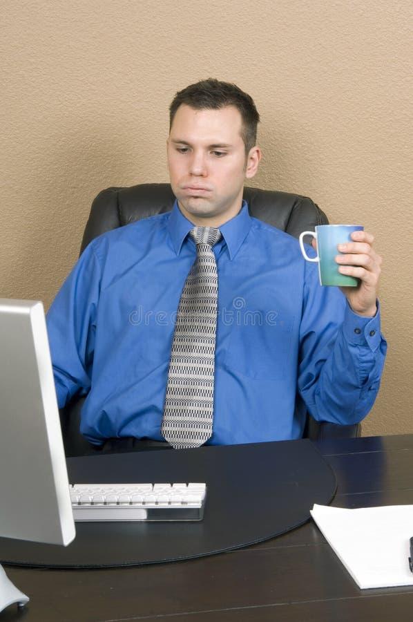 Hard time at work stock photos