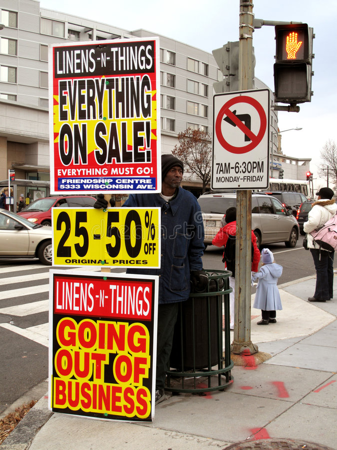 Download Hard Times editorial stock image. Image of sale, hard - 7214119